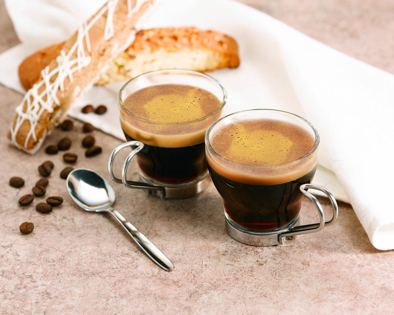 Ly cà phê Espresso có cấu tạo gồm hai phần chính